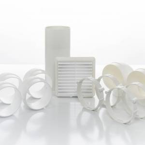 Extract Fan Accessories - Cyfan Inline Ducting Kit