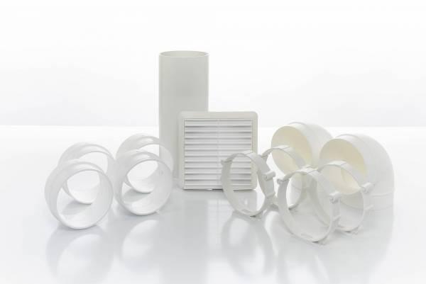Extract Fan Accessories - Cyfan Inline Ducting Kit