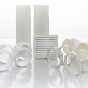 Extract Fan Accessories - Cyfan Inroom Ducting Kit