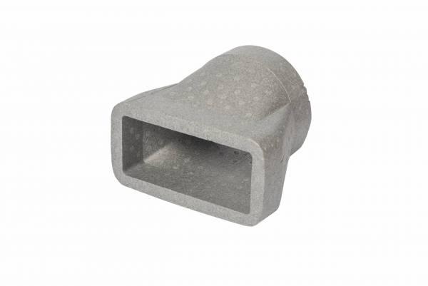 DUCTMASTER THERMAL 220x90mm insulated rectangular to round adaptor.